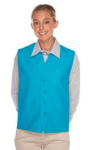 DA 740NP-BTN No Pocket Unisex Vest w/ Four Button Front
