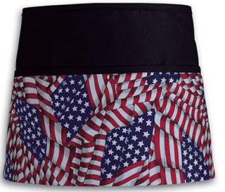 DA FG100 American Flag Three Pocket Waist Apron