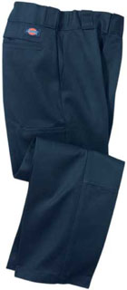 DickiesQP3200 Bk Dbl Knee Twl Pant