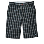 "Dickies Industrial WR978 13"" Regular Fit Multi-Pocket Plaid Short"