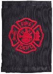 Nylon Tri-fold Wallet w/ Red Fire Department Logo