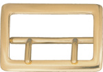"Dutyman 9072 2-1/4"" Sam Brown Belt Buckle - Solid Brass (Brass)"