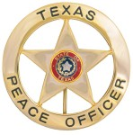 Dutyman B1002G Texas Peace Officer Round with Star