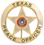 Texas Peace Officer Round with Star
