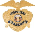 Dutyman B9001G Security Officer Hat Badge / Eagle Shield