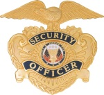 Security Officer Hat Badge