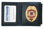 Dutyman ID Leather ID Badge Case With Shield