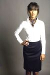 Executive Apparel 2359 Ladies Contour Band Lined Easywear Skirt
