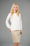 Executive Apparel 2408 Ladies Long-Sleeve Jewel Neck Blouse