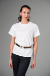 Executive Apparel 2418 Ladies Short-Sleeve Jewel Neck Blouse