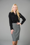 "Executive Apparel 2434 ""Rebecca"" Ruffle Front Blouse"