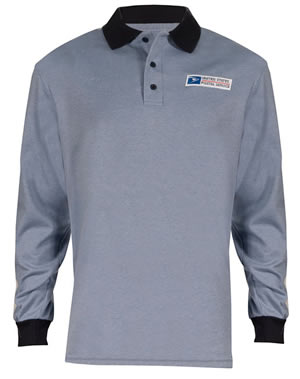 Elbeco 280 Retail Clerk Knit Polo Long Sleeve Shirts - Mens