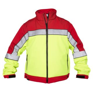 Elbeco SH3706RY Shield Soft Shell Red/HiVis Colorblock Jacket