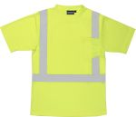 ERB SAFETY 9006S ANSI Class 2 T-Shirt W/Reflective Tape Birdseye Knit Mesh