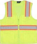 ERB Safety S149 ANSI Class 2 Vest Tricot & Mesh Hi-Viz Lime - Zipper