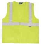 ERB Safety S150 ANSI Class 2 Vest Flame Resistant Modacrylic Hi-Viz Lime - Hook & Loop