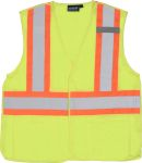 ERB SAFETY S165 ANSI Class 2 Vest Mesh Breakaway orange trim - Hook & Loop