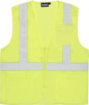 ERB SAFETY S363P ANSI Class 2 Vest Mesh Economy W/Pockets - Zipper