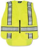 ERB Safety S368 ANSI 207 PSV Vest Knit Tricot Break-Away Hi-Viz Lime - Zipper Extended Tail