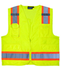 ERB SAFETY S380 ANSI Class 2 Surveyor's Vest Oxford & Mesh - Zipper