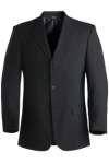 Pinstripe 3 Button Single Breasted Suit Coat