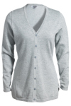 Edwards 046 Edwards Ladies' V-Neck Fine Gauge Long Cardigan Sweater