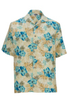 Edwards 1035 Edwards Hibiscus Multi-Color Camp Shirt
