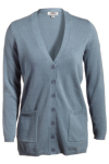 Edwards 119 Edwards Ladies' V-Neck Long Cardigan Sweater