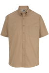 Edwards 1245 Men's Easy Care Poplin Short Sleeve Shirt
