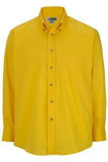 Edwards 1280 Edwards Men's Easy Care Long Sleeve Poplin Shirt