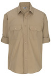 Edwards 1288 Edwards Men's Poplin Roll Up Sleeve Shirt
