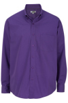 Edwards 1295 Men's Easy Care Poplin Long Sleeve Shirt