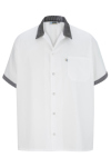 Edwards 1304 Edwards Button Front Shirt With Trim