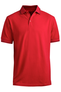 Edwards 1510 Edwards Blended Pique Short Sleeve Polo With Tipped Collar/Sleeve