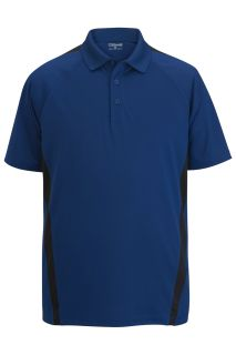 Edwards 1513 Edwards Men's Snag-Proof Color Block Short Sleeve Polo