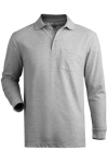 Edwards 1525 Edwards Blended Pique Long Sleeve Polo With Pocket