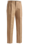 Edwards 2610 Edwards Men's Business Casual Pleated Chino Pant