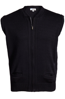 Edwards 301 Edwards Full-Zip Acrylic Sweater Vest