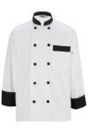 Edwards 3303 Ten Black Button Chef Coat
