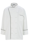 Edwards 3308 Edwards 12 Cloth Button Classic Chef Coat With Trim