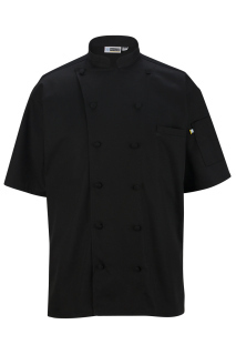 Edwards 3331 Edwards 12 Button Short Sleeve Chef Coat With Mesh
