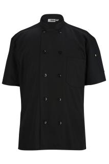 Edwards 3333 Edwards 10 Button Short Sleeve Chef Coat With Mesh