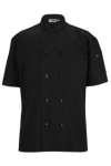 Edwards 3333 Edwards 10 Button Short Sleeve Chef Coat With Mesh