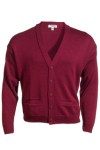 Edwards V-Neck Button Acrylic Cardigan Sweater-2 Pockets