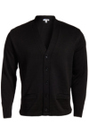Edwards 383 Edwards V-Neck Button Heavyweight Acrylic Sweater