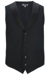 Edwards 4495 Men's Black Satin Shawl Vest