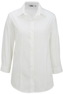 Edwards 5029 Edwards Ladies' Tailored Maternity Stretch Blouse-3/4 Sleeve