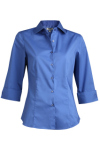 Edwards 5033 3/4 Sleeve Stretch Broadcloth Blouse