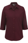 Edwards 5037 Women's 3/4 Sleeve Poplin Shirt