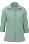 Edwards 5040 Edwards Ladies' Lightweight Open Neck Poplin Blouse - 3/4 Sleeve